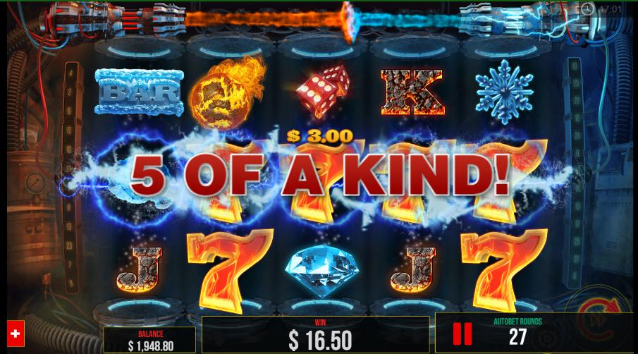 5 of a kind fire vs slot game